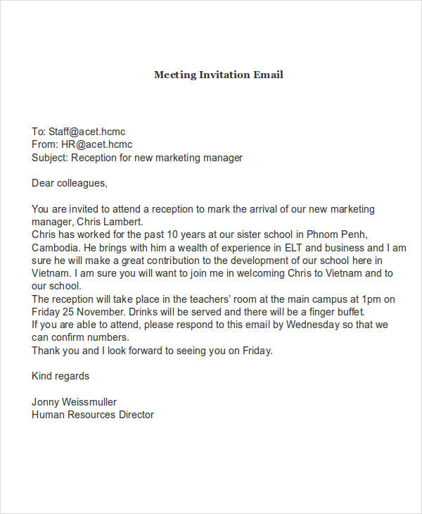 Meeting Invitation Email1