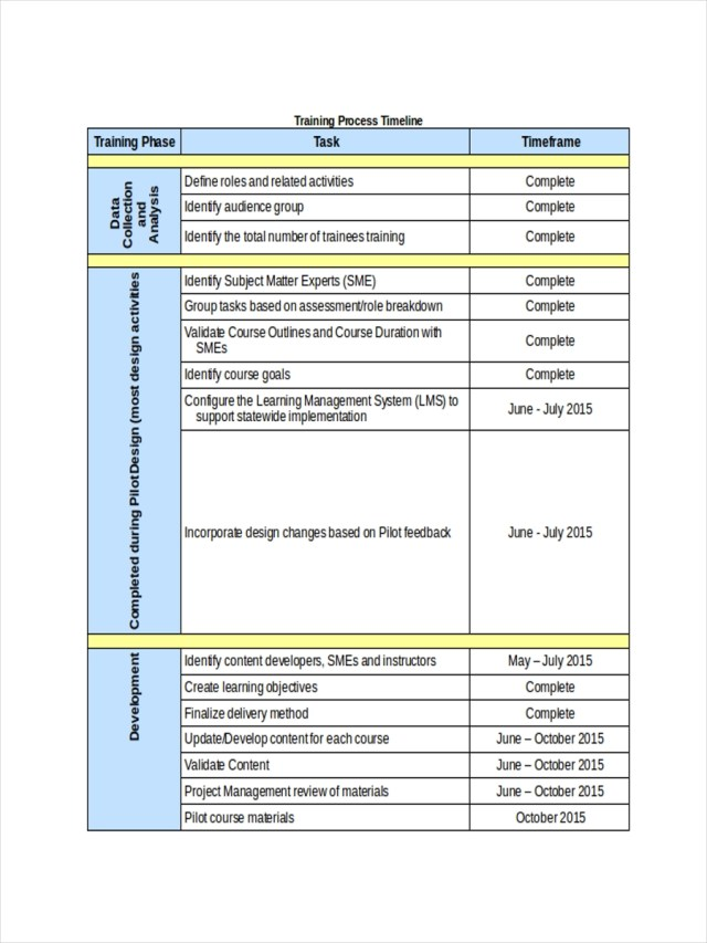 25+ Training Schedule Examples in PDF  Docs  Sheets  Excel  MS