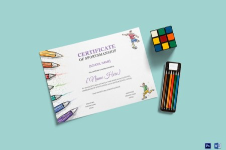 27  Award Certificate Examples   Samples Kids Sports Award Certificate Template