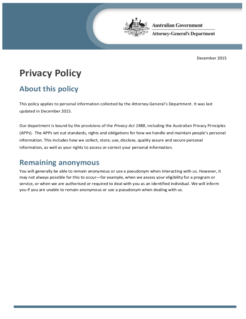 Free 18 Privacy Policy Examples In