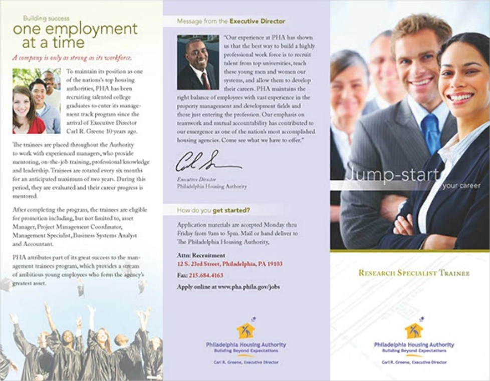 25 Examples Of Recruitment Brochure Designs In Word Psd