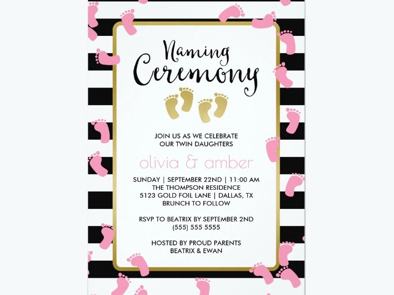 naming ceremony invitation designs
