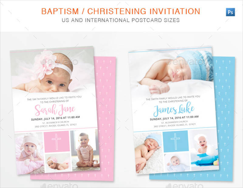 free 15 christening invitation designs