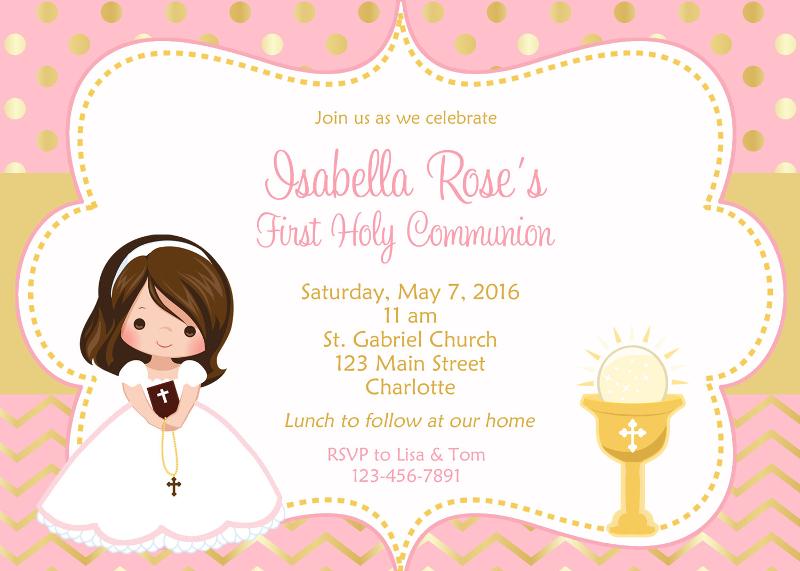 first communion invitation designs