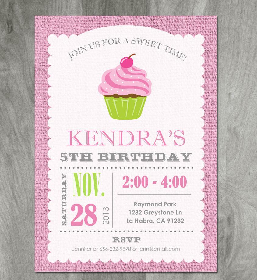 15 cupcake party invitation designs
