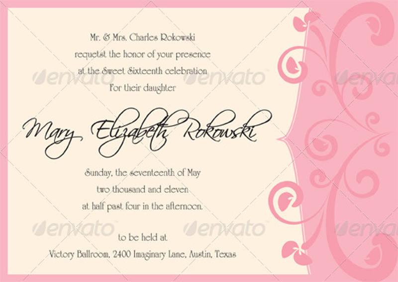 sweet 16 invitation designs examples