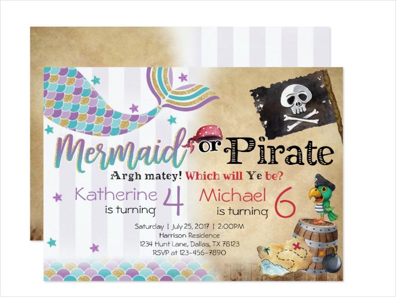 pirate birthday invitation designs