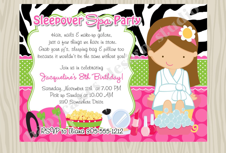 spa party invitation designs examples