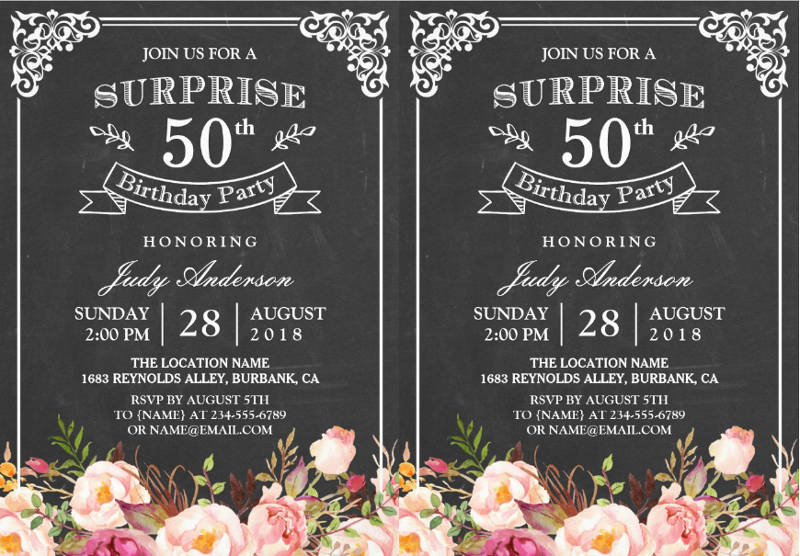 Free 13 Surprise Birthday Invitation Designs Examples In Psd Ai Eps Vector Examples