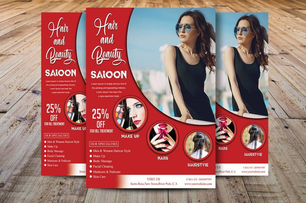 examples of beauty salon flyers in