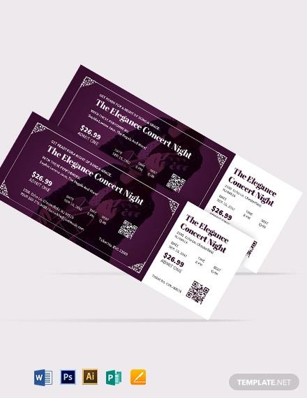 30 best concert ticket examples