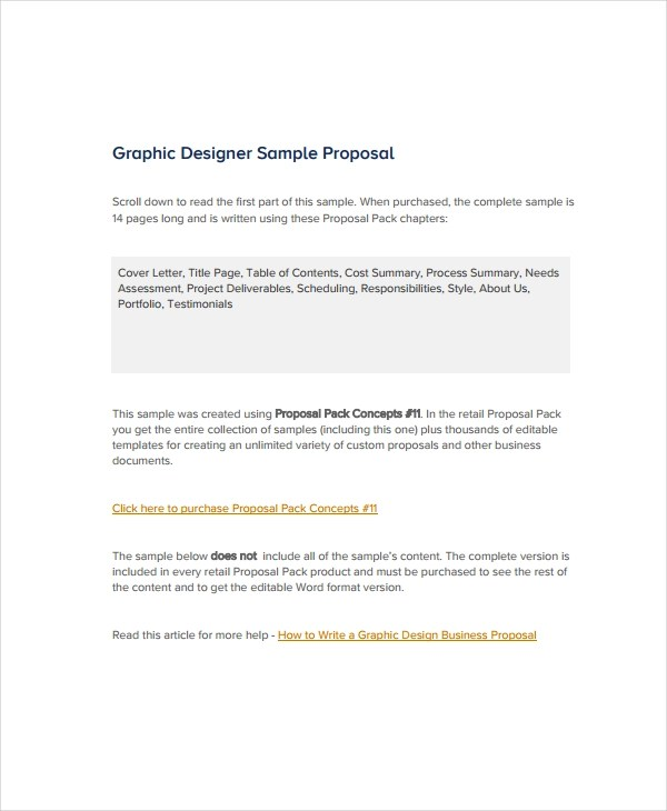 Free 10 Graphic Design Proposal Examples In Pdf Word