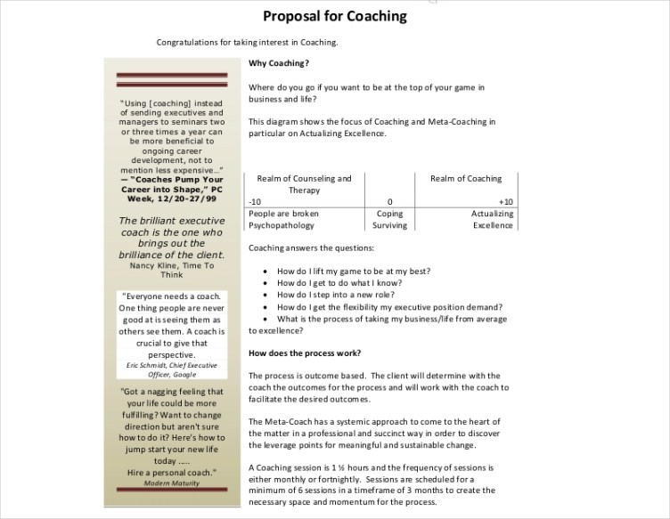10+ Coaching Proposal Examples & Samples in PDF   Examples