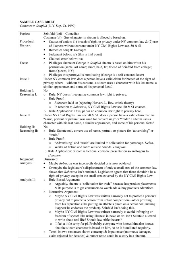 14+ Case Summary Examples - DOC, PDF  Examples