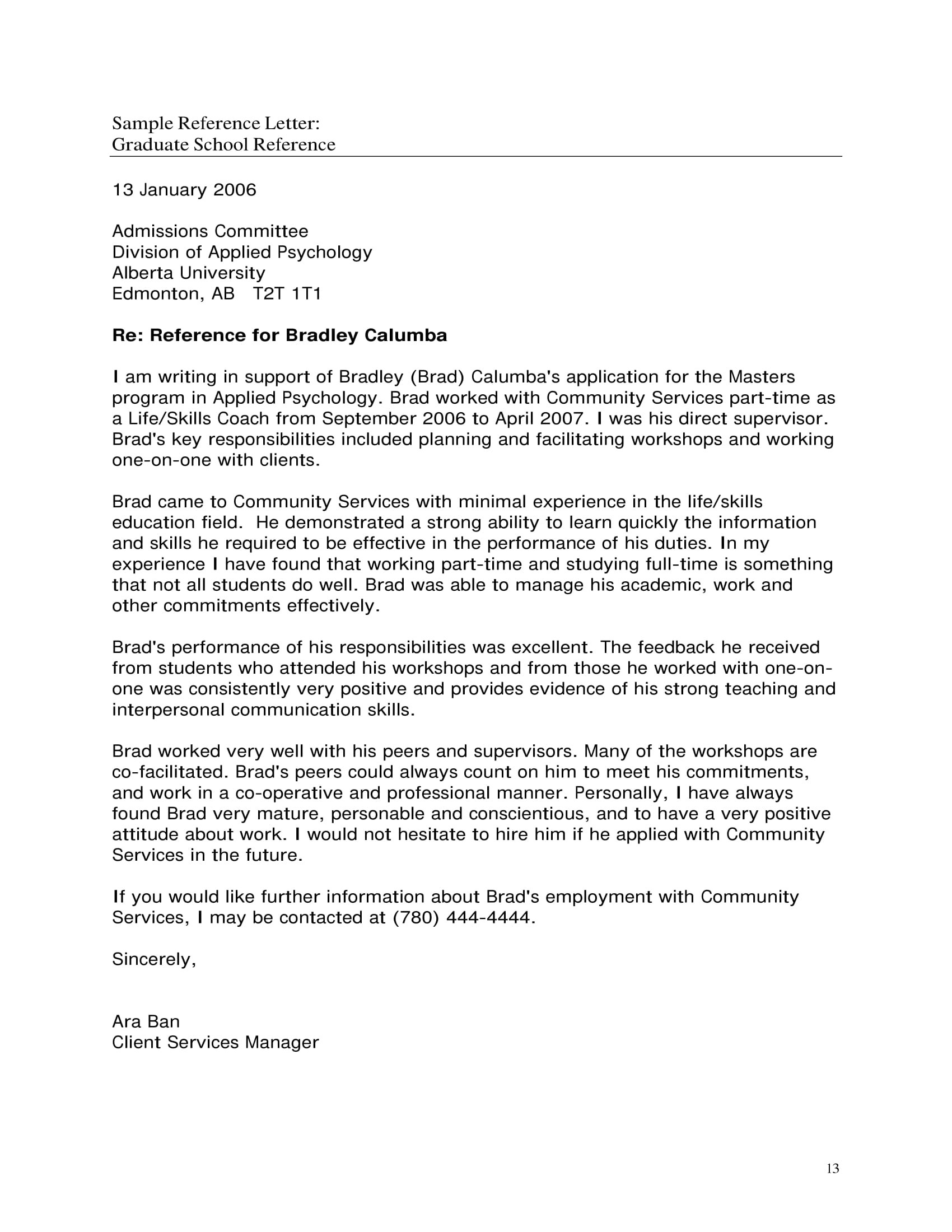 10 Business Reference Letter Examples