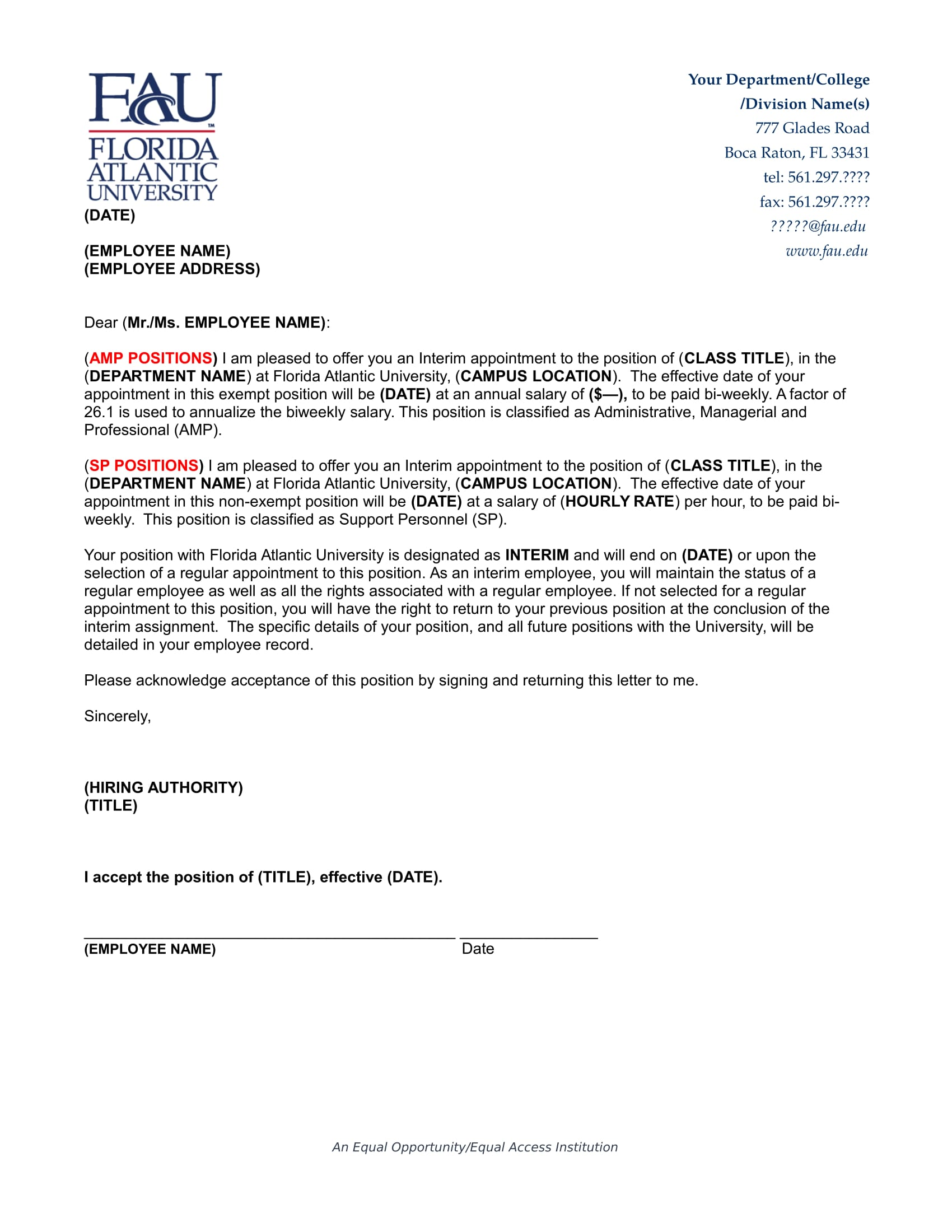 18 Job Appointment Letter Examples PDF Word Examples