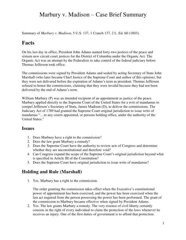 14+ Case Brief Examples - PDF  Examples