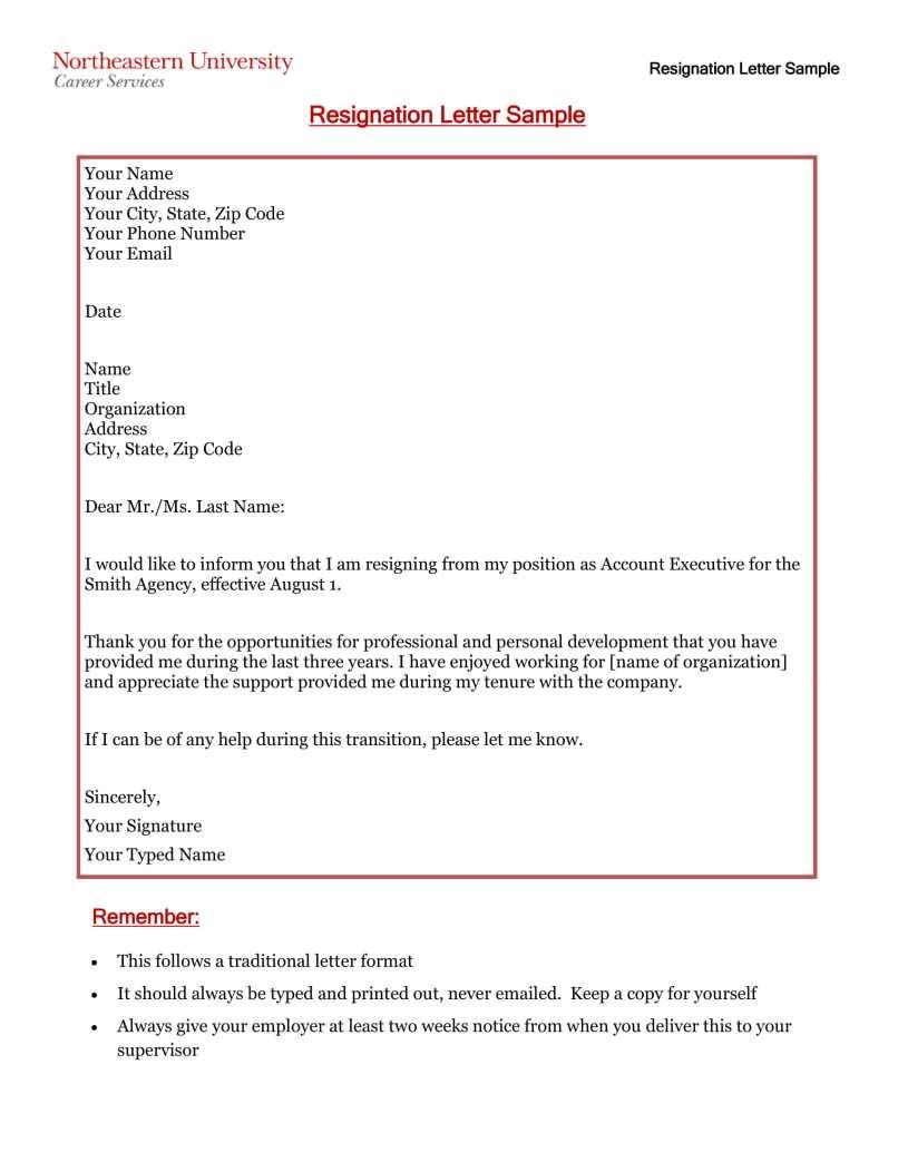 Standard Resignation Letter Uk Pdf Jidiletters Co