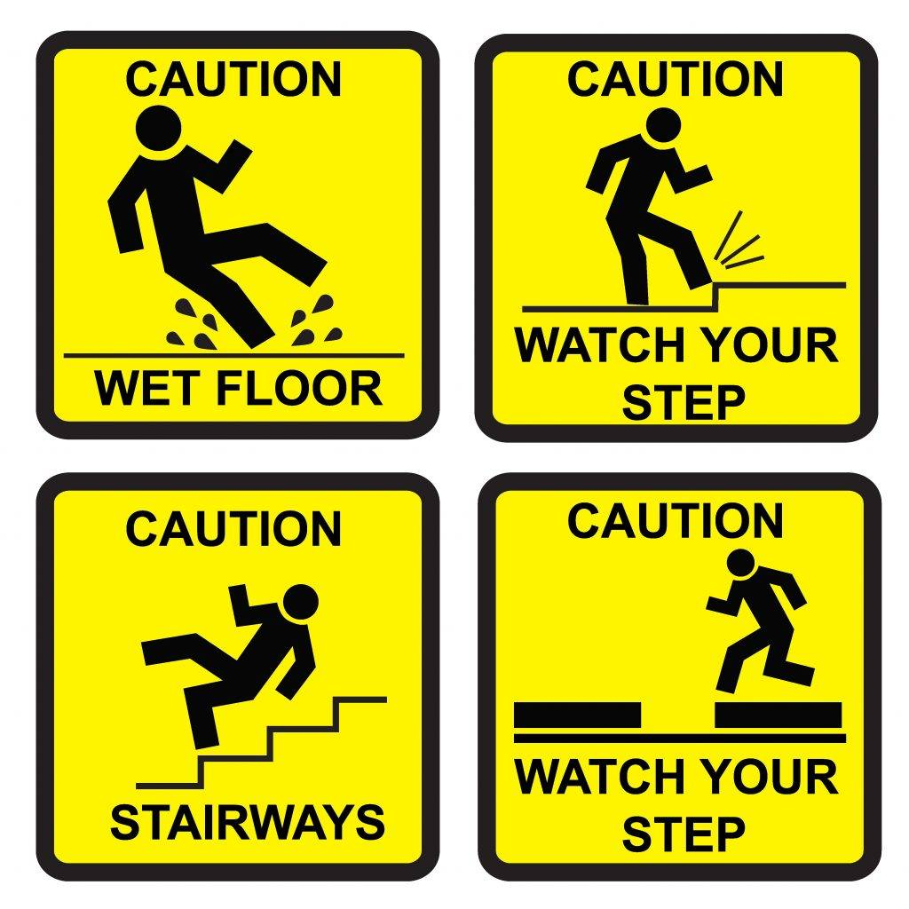 Yellow Caution Signs Example