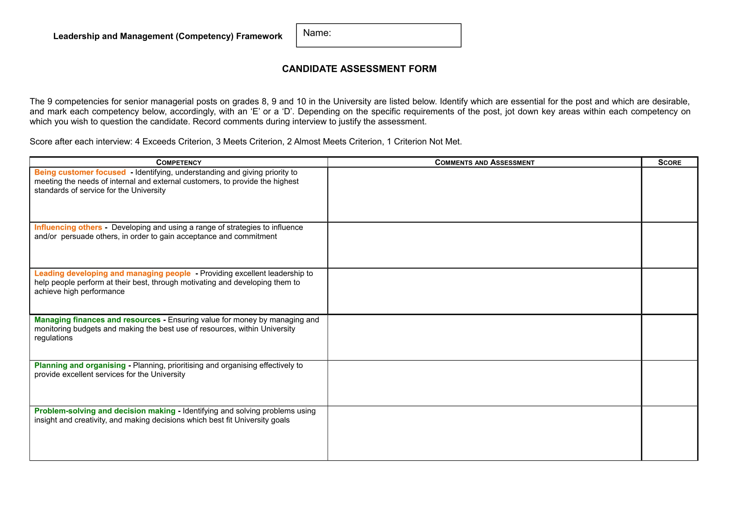 28 Assessment Examples