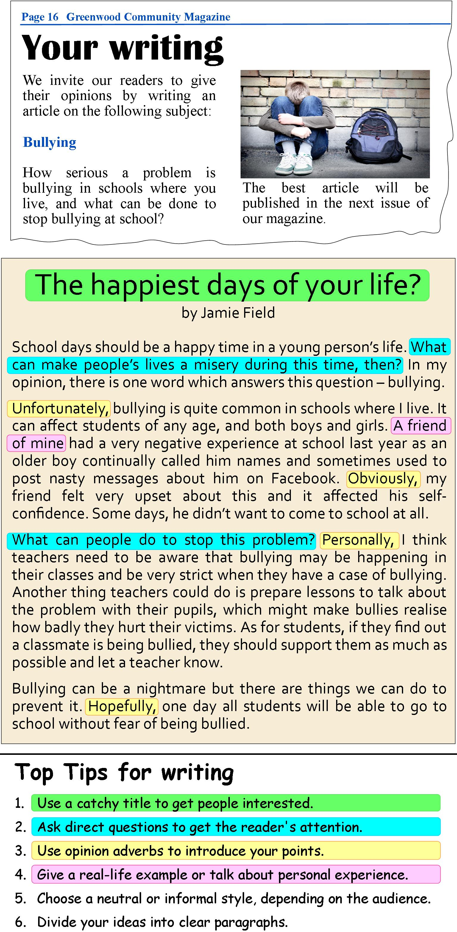 The Happiest Days Of Your Life Article