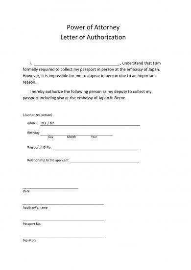 Attorney Authorization Letter Examples