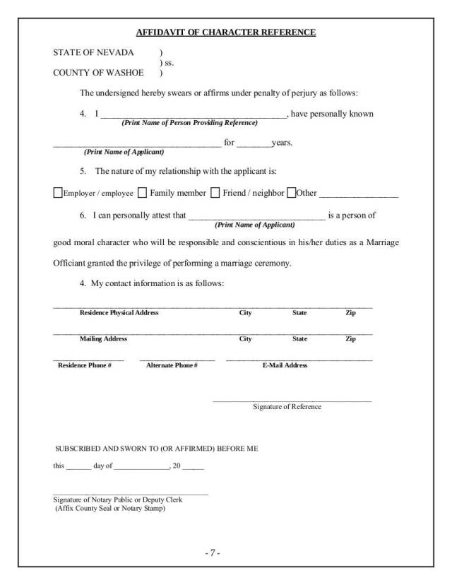 28+ Affidavit of Character Examples - PDF  Examples