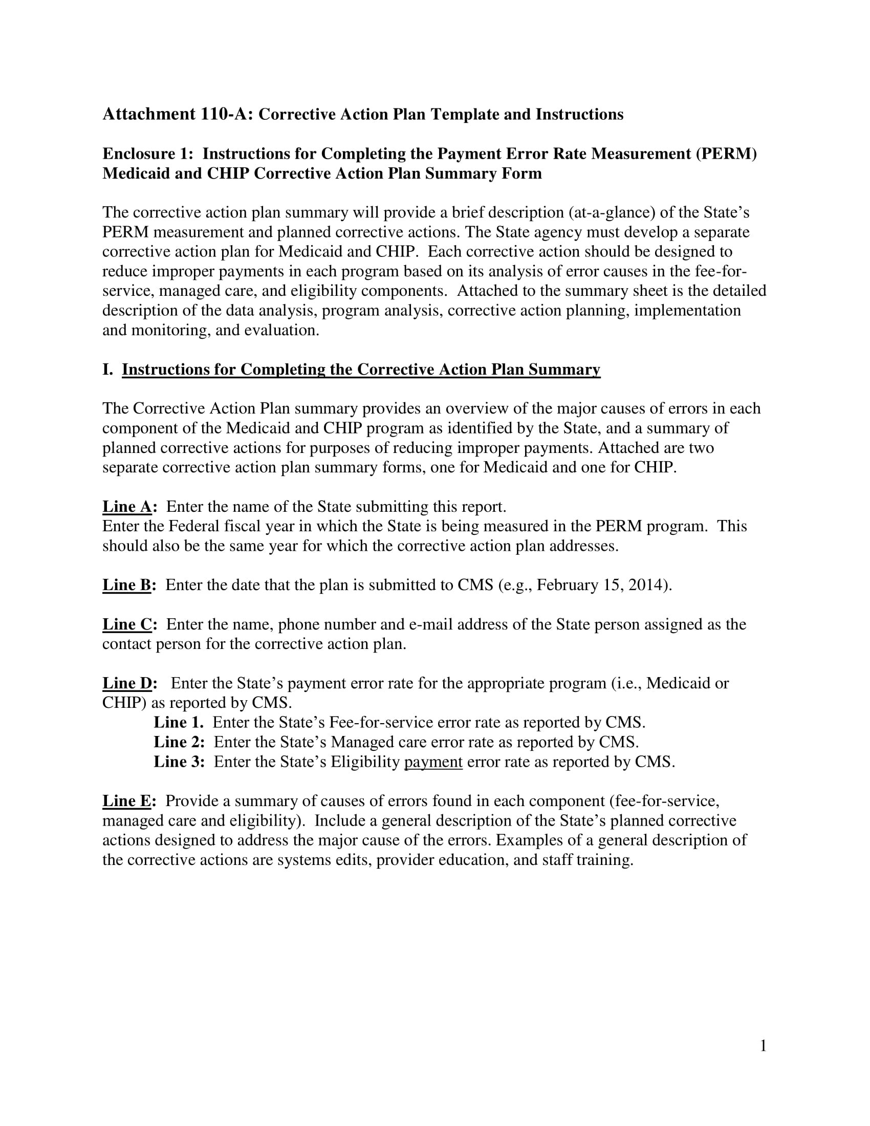 11 Corrective Action Plan Template Examples PDF Word Examples