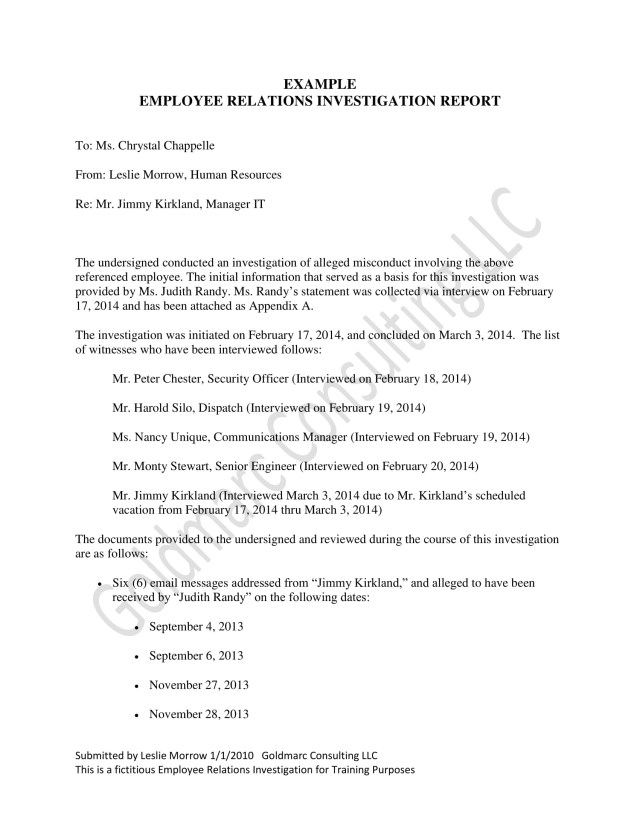 30+ Workplace Investigation Report Examples - PDF  Examples