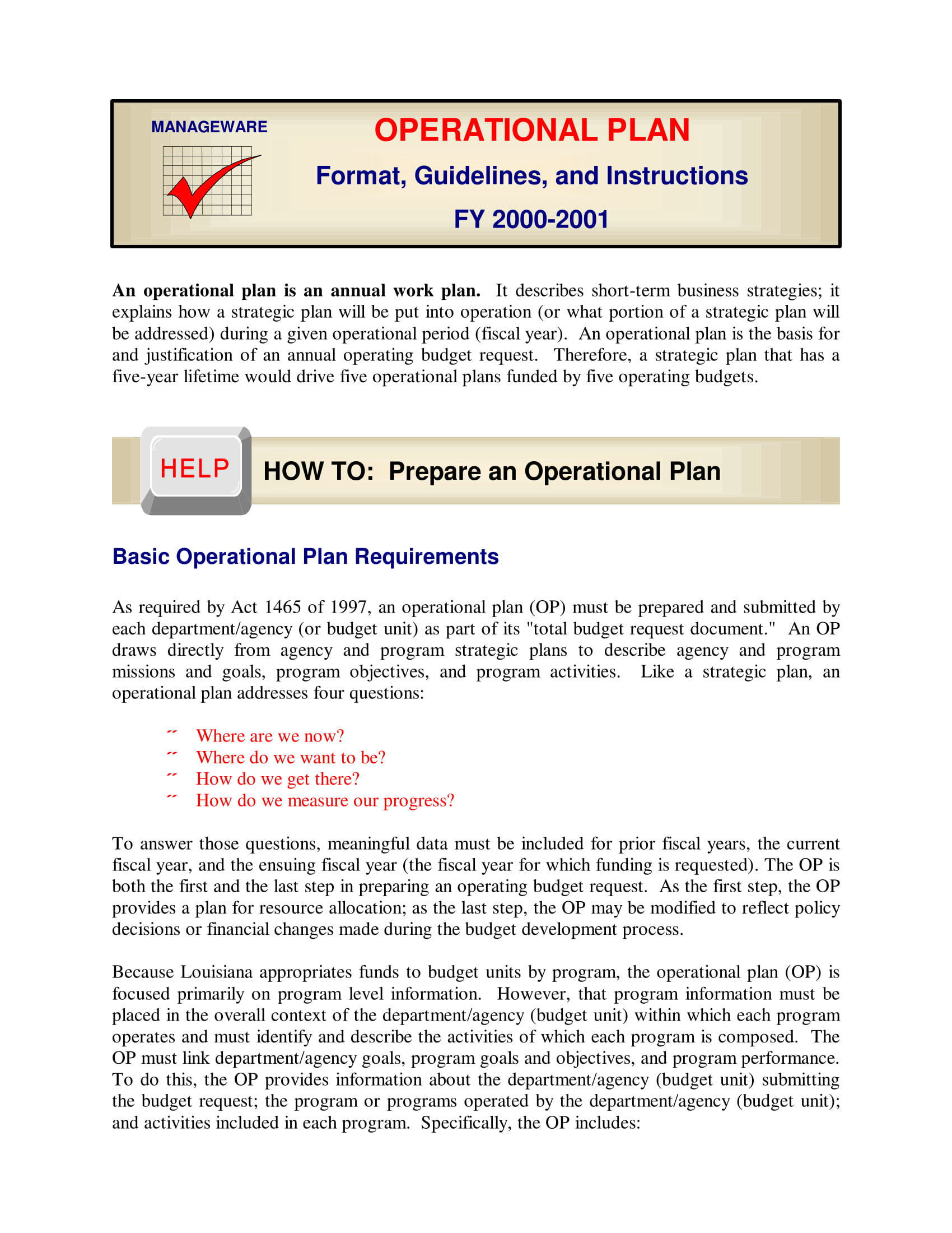 Operations In A Business Plan Operations Business Plan