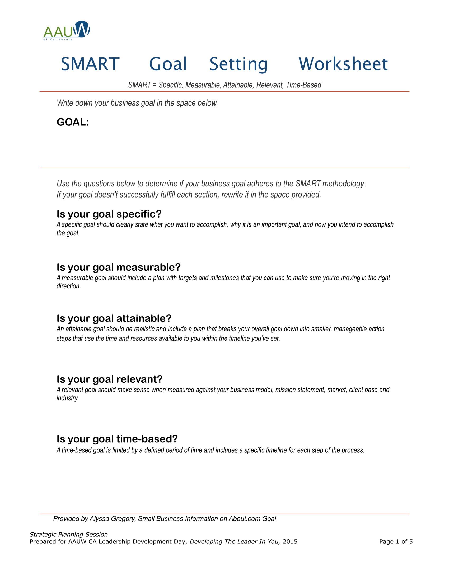 9 Leadership Goal Setting Examples