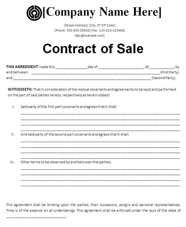 11 For Sale By Owner Contract Examples Word Docs Examples