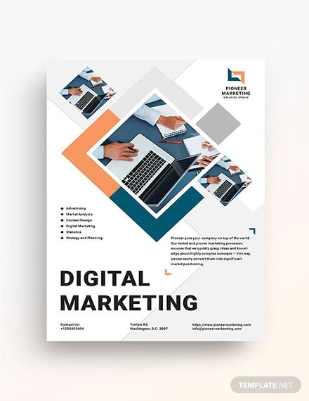 23 Digital Marketing Flyer Examples Templates Design