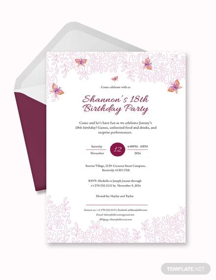 Birthday Invitation Designs