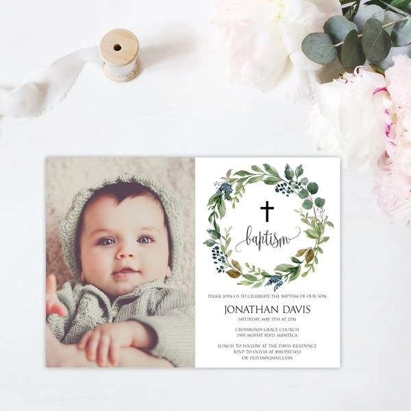 boys baptism invitation templates