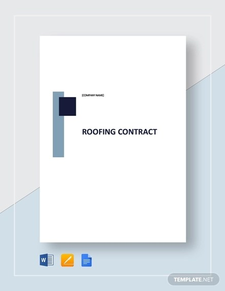 Free 10 Residential Roofing Contract Examples Templates