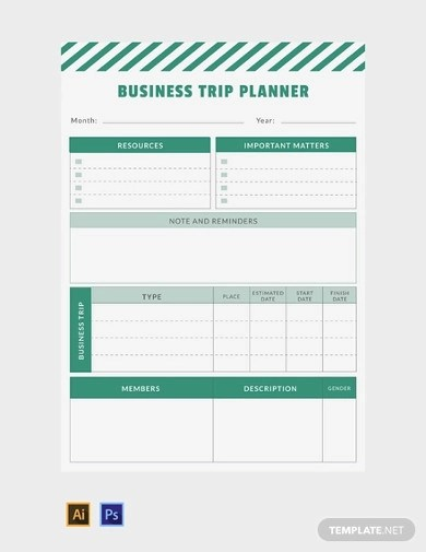 Free 11 Trip Planner Examples Templates Download Now