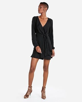 Women s New Arrivals   Exclusives   Express Express View      knotted v neck dress