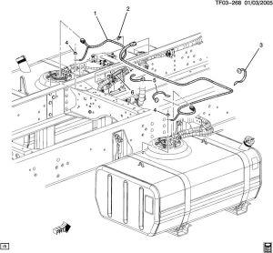 200409 Topkick Kodiak T6500T8500 Dual Tank Fuel Wire