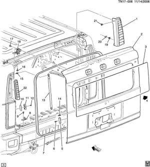 200009 Yukon Hummer Escalade Tahoe Sierra Silverado Rear Gate Striker 15182587 | Factory OEM Parts