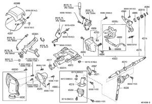 20002002 Toyota Tundra Steering Column Upper Trim