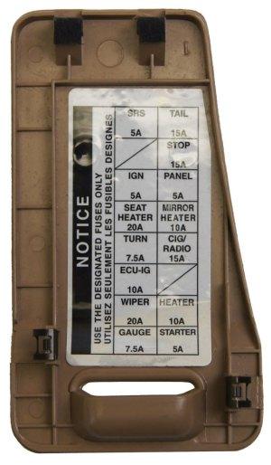 19961998 Toyota Avalon Dash Fuse Panel Box Cover Quartz