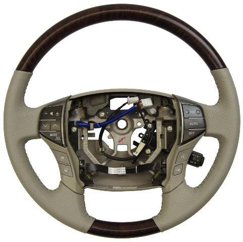 2011 2012 Toyota Avalon Steering Wheel Grey Leather W