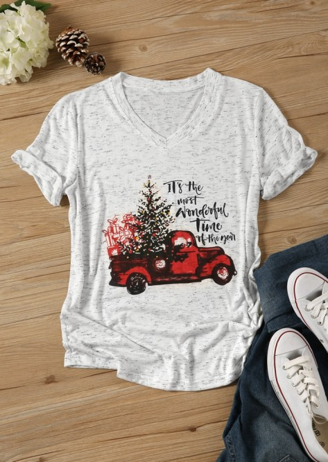 Wonderful Time Country Style Christmas Tee