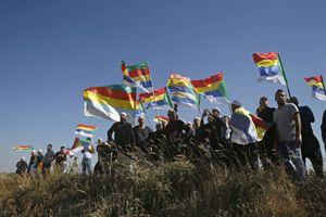 Una manifestazione di drusi presso il villaggio di Majdal Shams (Reuters).