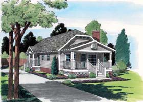 Bungalow Style House Plan Number: 24241