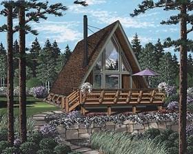 A-Frame Home Plan Number: 24308
