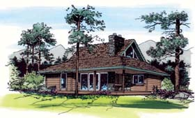 Cabin House Plan Number 24309