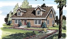 Cape Cod House Plan Number: 34077