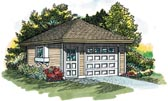 One Car Garage Plan
